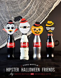 These DIY decorative bottles make a fun accent for your home or Halloween party table. Our partner Hostess with the Mostess shows us how!
