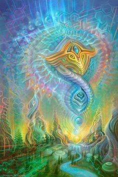 artandspirituality:   Spirit Rising - Fabian... | Bioluminescent