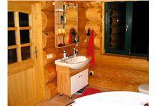 Log Homes Bathrooms Log Home Bathrooms, Log Homes, Home Decor, Timber Homes, Log Cabin Bathrooms, Interior Design, Log Cabin Homes, Home Interior Design, Log Home