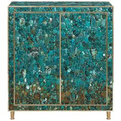 Turquoise Cabinet by Kam Tin | From a unique collection of antique and modern cabinets at http://www.1stdibs.com/furniture/storage-case-pieces/cabinets/