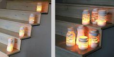 Lanternes de verre customisées