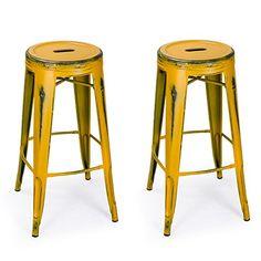 Adeco 30-inch Metal Counter Stools, Vintage Barstool, Antique Yellow Adeco http://www.amazon.com/dp/B014X5BGF0/ref=cm_sw_r_pi_dp_gzcpwb0N5GME5