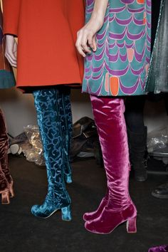 OMG! thigh high velvet boots! ~ NEED!!! Do you know how long I have been looking for Velvet TALL boots.  I thought I was going to have to commision some myself!