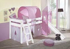 SAM® Kinder Spielbett Prinzessin II weiß schräg massiv Buche