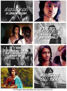 """The Musketeers - d'Artagnan gif set, """"I'm d'Artagnan. Please think kindly of my name if you think of it at all."""" (3/4)"""