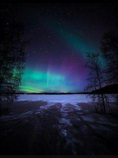 Aurora boreal en Finlandia.