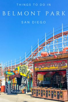 to Do at Belmont Park in San Diego From a roller coaster built in 1925 to laser tag, here are the best things to do at Belmont Park in San Diego.From a roller coaster built in 1925 to laser tag, here are the best things to do at Belmont Park in San Diego. San Diego Vacation, San Diego Travel, San Diego Beach, San Diego Zoo, Mission Beach San Diego, Pacific Beach San Diego, California Vacation, Visit California, La Jolla California
