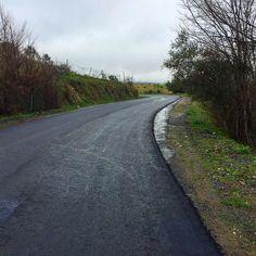 Carretera abandonada y recuperada como acceso particular. CC-204. #lascarreterasdeExtremadura