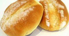 Bollos Suizos Donuts, Pan Dulce, Almond Cakes, Bakery Recipes, Crepes, Hot Dog Buns, Snacks, Meals, Cooking