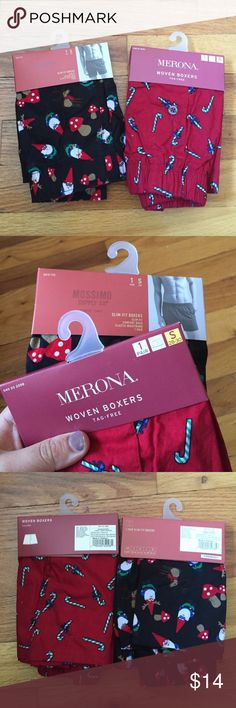 NWT Men's Christmas Boxers size S 2 pairs of NWT Men's Christmas themed boxers. Both size S from target (mossimo and merona) Mossimo Supply Co. Underwear & Socks Boxers