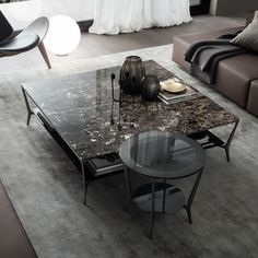 Planet coffee table by Rimadesio from Pure Interiors. – Planet coffee table by Rimadesio from Pure Interiors. Side Coffee Table, Coffee Table Design, Black Marble Coffee Table, Planet Coffee, Indoor Outdoor Furniture, Iron Table, Small Tables, Contemporary Interior, Table Furniture