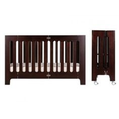 bloom Alma Max Folding Crib in Cappuccino