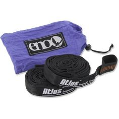 ENO Atlas Hammock Suspension System Will be buying another set this week at the REI sale. Love the Atlas Slap Straps with my ENO singlenest. They DO NOT STRETCH and they have numerous daisy loops so you have multiple options for where you can slap yo' strap. These are longer and have more daisy loop options than regular slap straps. $19.99 at REI