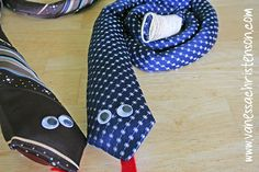 Tie Rattle Snake - another idea for using all those old ties! Baby Sewing Projects, Sewing For Kids, Sewing Crafts, Sewing Ideas, Sewing Patterns, Old Ties, Crafts To Do, Kids Crafts, Operation Christmas Child