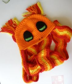 free charmander crochet hat pattern