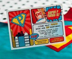 Invitación superhéroe