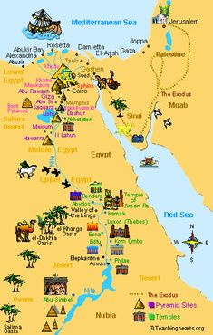 Ancient Egypt Maps for Kids and Students ~ Ancient Egypt - Egypt - Egipto - Travel Ancient Egypt, Ancient History, History Of Egypt, European History, Ancient Aliens, Ancient Artifacts, Egypt Map, Pyramids Egypt, Bible Mapping