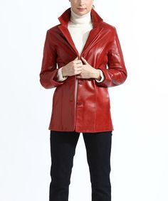 b8e9224a9eb0e Cherry Distressed Leather Jacket - Women  amp  Plus by Tanners Avenue   zulily  zulilyfinds