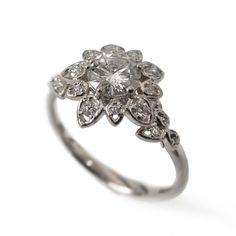 http://rubies.work/0765-blue-sapphire-earrings/ Diamond Art Deco Petal Engagement Ring - 18K White Gold and Diamond engagement ring, unique engagement ring, flower ring, antique,vintage,2B by DoronMeravWeddings on Etsy https://www.etsy.com/listing/214911609/diamond-art-deco-petal-engagement-ring