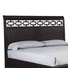 """Platform headboard with open fretwork detail. Includes removable bronze mirror.  Product: HeadboardConstruction Material: Oak veneer and bronze mirrored glassColor: Brown  Dimensions: Queen:  60"""" H x 64"""" W x 6"""" DKing: 60"""" H x 80"""" W x 6"""" DNote: Product is for headboard only"""