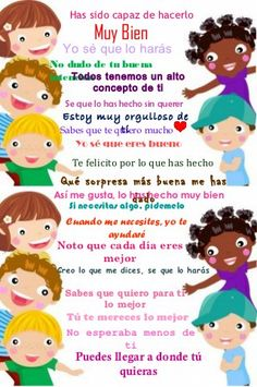 Palabras que animan Spanish Teacher, Spanish Classroom, Teaching Spanish, Communication Positive, Dual Language, Kids Education, Kids And Parenting, Back To School, Crafts For Kids