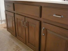 glaze oak kitchen cabinets a side by side comparison of general finishes gel stain 15912