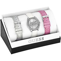 Guess - Wristwatch con cinturini intercambiali, Quartz Analog, Leather >>> Check out this great product.