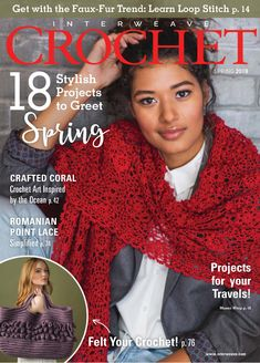 Greet spring with 18 beautiful projects in Interweave Crochet Spring Plus, learn to felt your crochet or try a simplified version of Romanian point lace. Then, read about fiber artists that are using crochet to bring awareness to environmental issues. Crochet Books, Crochet Art, Knitting Books, Crochet Stitches, Baby Knitting, Knitting Magazine, Crochet Magazine, Interweave Crochet, Arts And Crafts