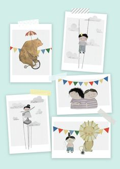 Circus prints for the nursery.  pinned by www.auntbucky.com  #circus #nursery #art
