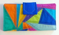 Happy Womens Clutch Wallet Recycled Paraglider Wallet by OffChutes