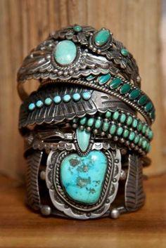 Vintage Loves: Denim & Turquoise