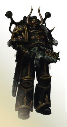 Black Legion Chaos Marine by MasterAlighieri on DeviantArt