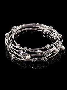 Swarovski Stack Bracelet Set - 6 Pieces  #bridesmaid #jewelry #gift