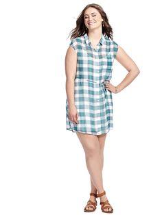 Katrin Shirt Dress by @bbdakota  Available in sizes 1X-3X