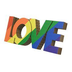 Rainbow Love Board - creative wall art