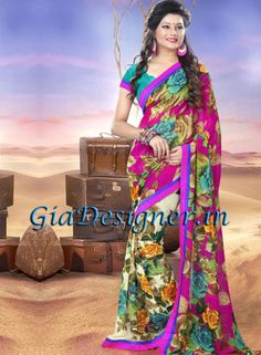 Marvelous Multi Colour Casual floral Printed Saree