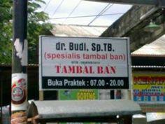 ingat kudu bertitle biar tidak tekor... #tambalban #dokterban #gojekan