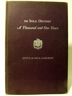 De Sola Odyssey Jewish Narrative Poem Spanish History Judaism Vintage Book