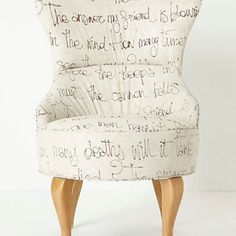 Indeed. A Bob Dylan lyrics chair. . . . WHAT?! I want this chair! So bad.