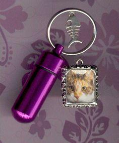 FDS,Key Chain Urn,Pet Urn,Feline,Cat,Dog,Cremation Urn