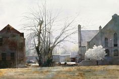 """Artist Dean Mitchell's  """"Early Spring in St. Louis."""" A Fine Art Edition from a great American award-winning watercolorist."""