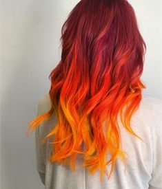 This Girl is On Fire: Celeb Luxury Colorwash Formula Ombre Hair fire ombre hair Fire Hair Color, Fire Ombre Hair, Best Ombre Hair, Hair Color Dark, Cool Hair Color, Color Red, Fire Red Hair, Hair Colors, Colour