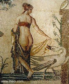 Leda and Zeus as swan