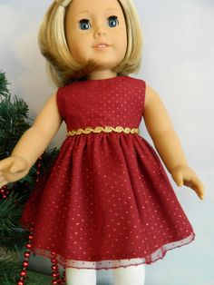 18 doll clothes Christmas outfit for 18 American by SewCuteJune, $26.00 www.etsy.com/shop/sewcutejune