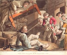 The two sailors at the Haunted inn. (caricature) - National Maritime Museum