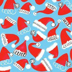 Margaret Berg Art: Santa+Hats+Pattern