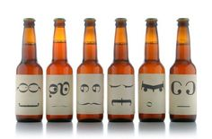 Typographic Beer. This beer bottles have been designed by Ashley Lewis http://ashleymlewis.com/ , they are really clearly done in that she uses letters and punctuation to create different faces, the faces all have a different mood and felling attached to them.