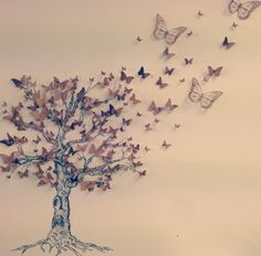 GCSE art final Butterfly nature tree GCSE art design canvas a level free beige white black pretty. i don't know who originally did this - but i bet they passed ! Tatoo Tree, Butterfly Tree, A Level Art, Nature Tree, Gcse Art, Beautiful Butterflies, Art Sketchbook, Art Projects, Art Drawings