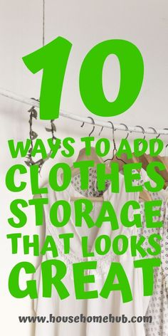 10 Ways to Add Clothes Storage that Looks Amazing - House Home Hub Storage Hacks, Hidden Storage, Diy Storage, Storage Solutions, Extra Storage, Clothing Storage, One Clothing, How To Look Pretty, That Look