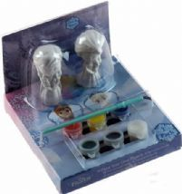 Disney Frozen Paint Your Own Elsa And Anna Plaster Figurine Bedroom Ornament